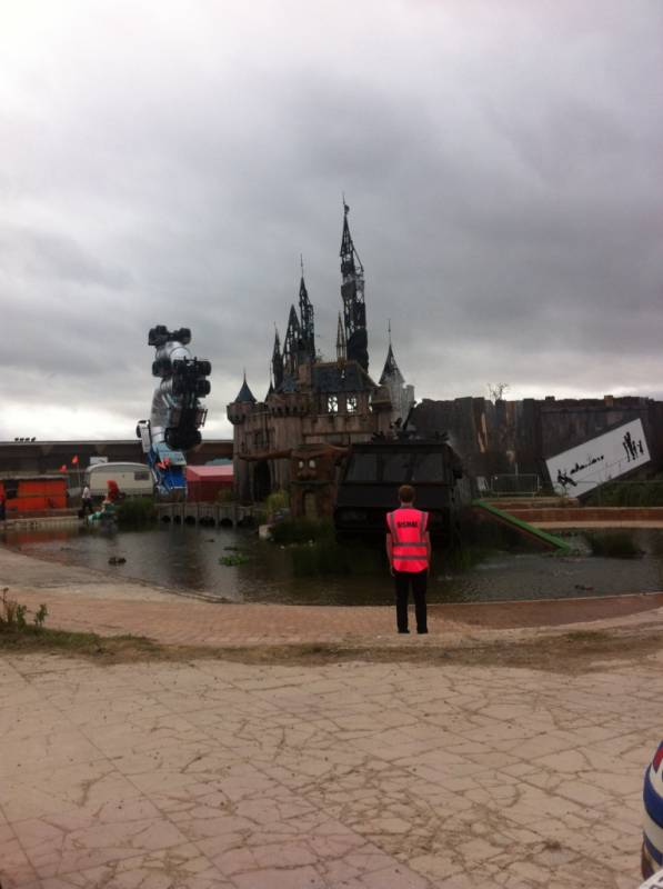 #Dismaland at home of Outsidethebox makeup! We were there on Day 1